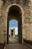 Details of bridge, Besalu, Catalonia. Spain Royalty Free Stock Photos