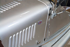 Details of British classic sports car Union Jack Stock Photos
