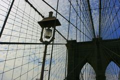 Details of Brooklyn Bridge Royalty Free Stock Images