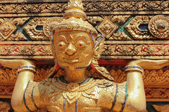 Details in the Buddhist temple, the deity Stock Images