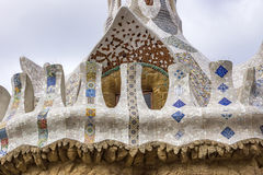 Details of building in the Parc Guell Stock Image