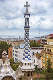 Details of building in the Parc Guell Royalty Free Stock Image