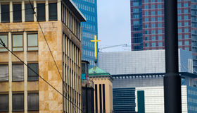 Details of business buildings in Frankfurt, Germany Stock Photography