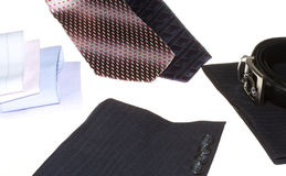 Details of a business man suit Royalty Free Stock Image