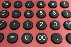 Details of a calculator Royalty Free Stock Image