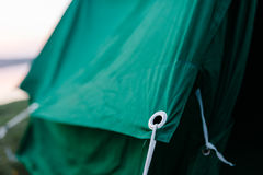 Details of the camp tent Royalty Free Stock Photos