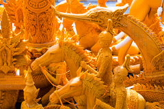Details of candle carving Royalty Free Stock Photography