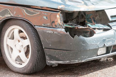 Details of a car an accident Stock Image
