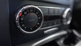 Details of car climate control Stock Photography