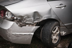 Details of car head in an accident Royalty Free Stock Photography