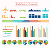 Details for cargo infographic Stock Image