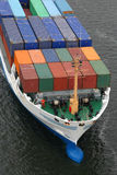 Details of a cargo ship. With containers Stock Photography