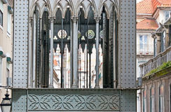 Details of Carmo Lift in Lisbon Royalty Free Stock Photos