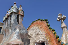 Details of Casa Batllo in Barcelona, Spain Royalty Free Stock Photo