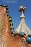 Details of Casa Batllo in Barcelona, Spain Stock Image
