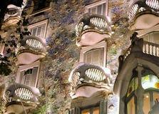 Details of  Casa Batllo. Details of Casa  Batllo building in Barcelona, Spain. Designed by Gaudi Stock Photos