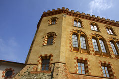 Details of the castle of Barolo Stock Photo