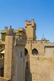 Details of the castle of Olite Royalty Free Stock Images