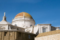 Details of the Cathedral of Cadiz in Andalusia. Spain Royalty Free Stock Image