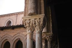 Details of the cathedral cloister stock image