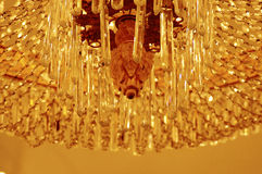 Details chandeliers. Piece crystal chandelier crystal pendants Royalty Free Stock Image