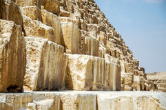 Details of the Cheops Pyramid. Royalty Free Stock Photo