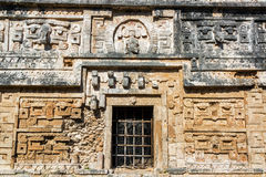 Details in Chichen Itza. Beautiful architectural details in the ancient Mayan ruins of Chichen Itza in Mexico Royalty Free Stock Photos