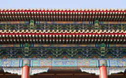 Details of Chinese Architecture. The elaborate and ornate rooftops of one of the many buildings in the Forbidden City Stock Images