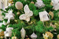 Details of Christmas tree at the Galerija Centrs in Riga Stock Photos
