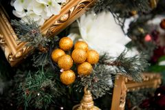 Details from a Christmas tree royalty free stock images