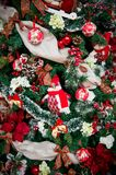 Details from a Christmas tree royalty free stock photo