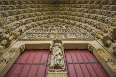 Details of church door from amiens, france Stock Photo