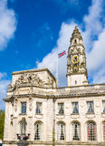 Details of City Hall of Cardiff - Wales Stock Images