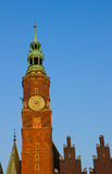 Details of city hall, Wroclaw, Poland Royalty Free Stock Photography