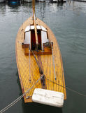 Details of a classic beautiful handcraft wooden sailing yacht Royalty Free Stock Photography
