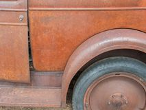 Rusty vintage pickup truck details royalty free stock photos