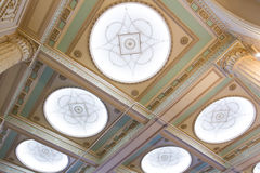 Details of classical ceiling in the Throne Room Stock Photo