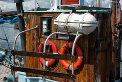 Details of a classical fishing boat Stock Photo
