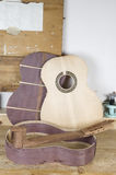 Details of the classical guitar Royalty Free Stock Photos