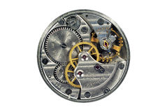 Details of clock. On a white background Stock Images
