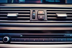 details and close-up of air conditioning and car ventilation Royalty Free Stock Photography