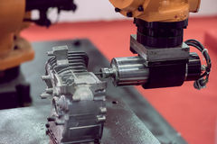 Details of CNC machine Royalty Free Stock Photos