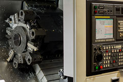 Details of CNC machine tools Stock Images