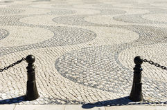 Details in cobblestone plaza Royalty Free Stock Image