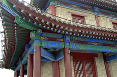 Details of roof of xian pagoda China Stock Images