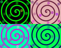 Details of colored spirals Stock Photo