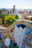 Details of a colorful ceramic bench Stock Images