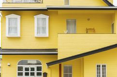 Colorful residential building in Japan. Details of colorful residential building in Japan royalty free stock images