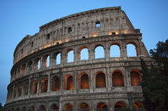 Details Colosseum Evening Rome Italy. Built by Vespacian Stock Photography