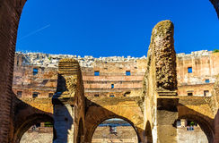 Details of Colosseum or Flavian Amphitheatre in Rome Royalty Free Stock Photography
